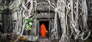 A Monk at Ta Prohm