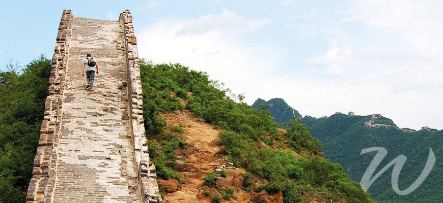 Solo Traveller on the Great Wall, travel style