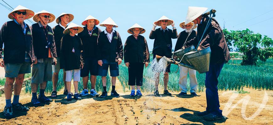 A Group of Travellers Enjoying Vietnam