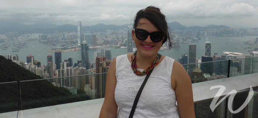 Zoe at The Peak, 48 Hours in Hong Kong