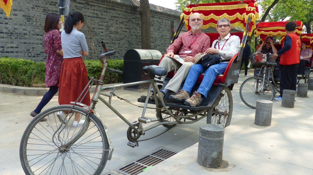 Passengers on Rickshaw Ride, Beijing China!