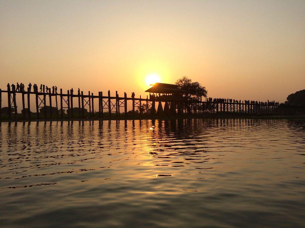 U Bein Bridge in focus myanmar