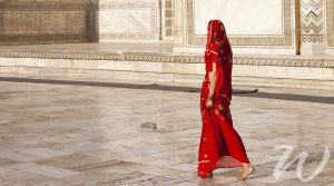 Woman in Sari at the Taj Mahal