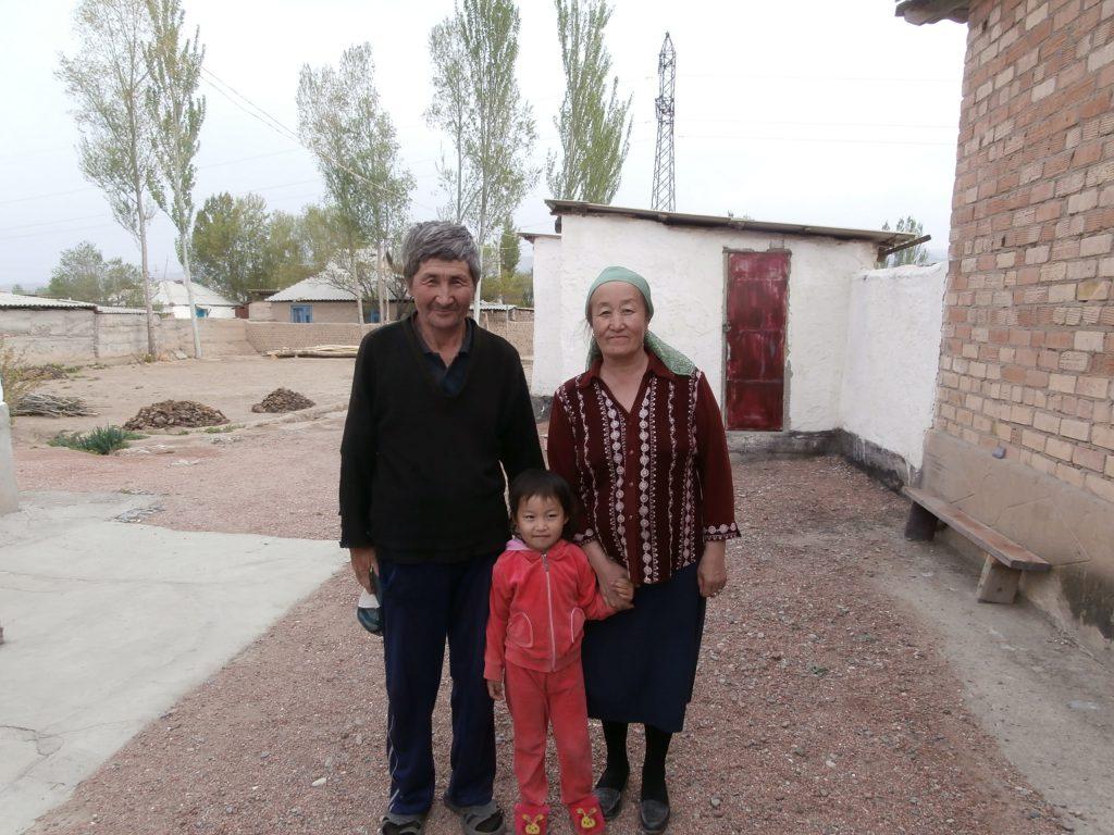 Family in Karokol, Kyrgystan