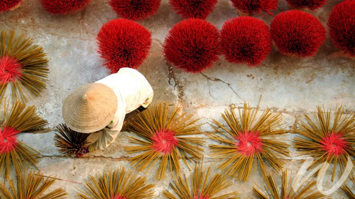 Incense sticks drying, Saigon 48 Hours in Saigon