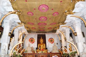 Interior Sacred Tooth Relic Temple, focus on sri lanka