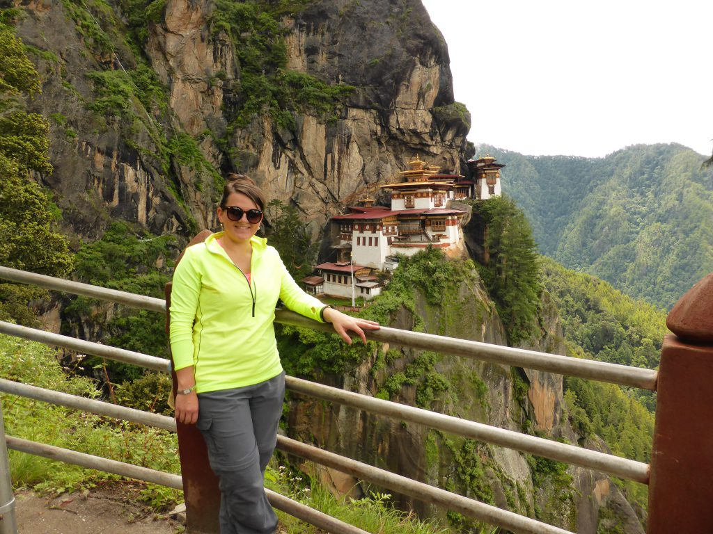 Our Customer Insight Manager Zoe, Tiger's Nest Monastery, Paro, Bhutan