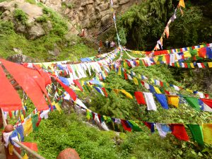 Prayer Flags, Paro, Bhutan, Tiger's Nest Monastery