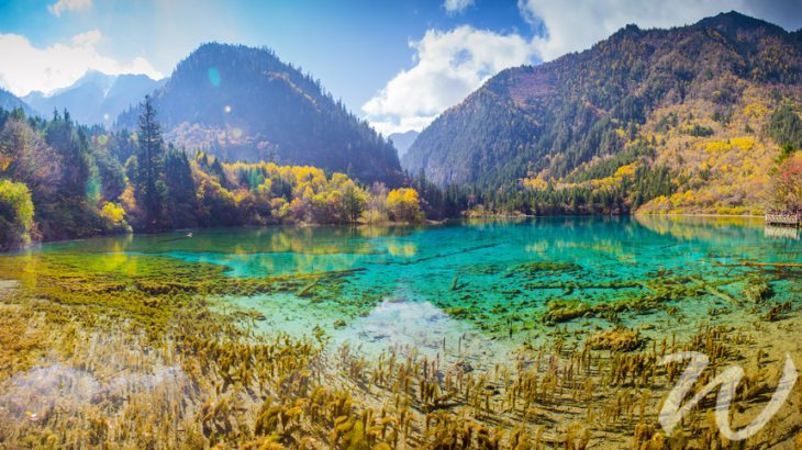 Lake in Jiuzhaigou Valley, Customer Corner: Jiuzhaigou National Park