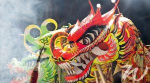 Chinese Dragon Celebrating Chinese New Year