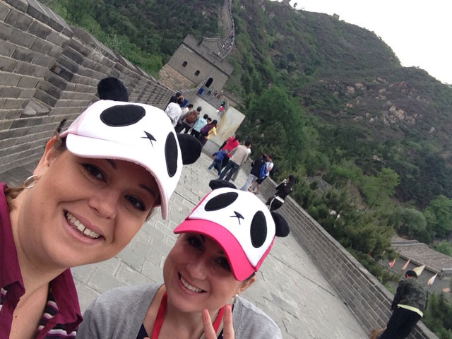 Staff Members on the Great Wall, Beijing, travel buddy