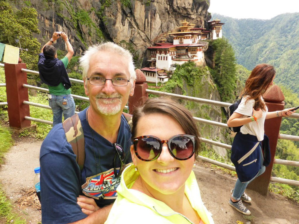 Staff member at Tiger's Nest, Paro Bhutan, travel buddy