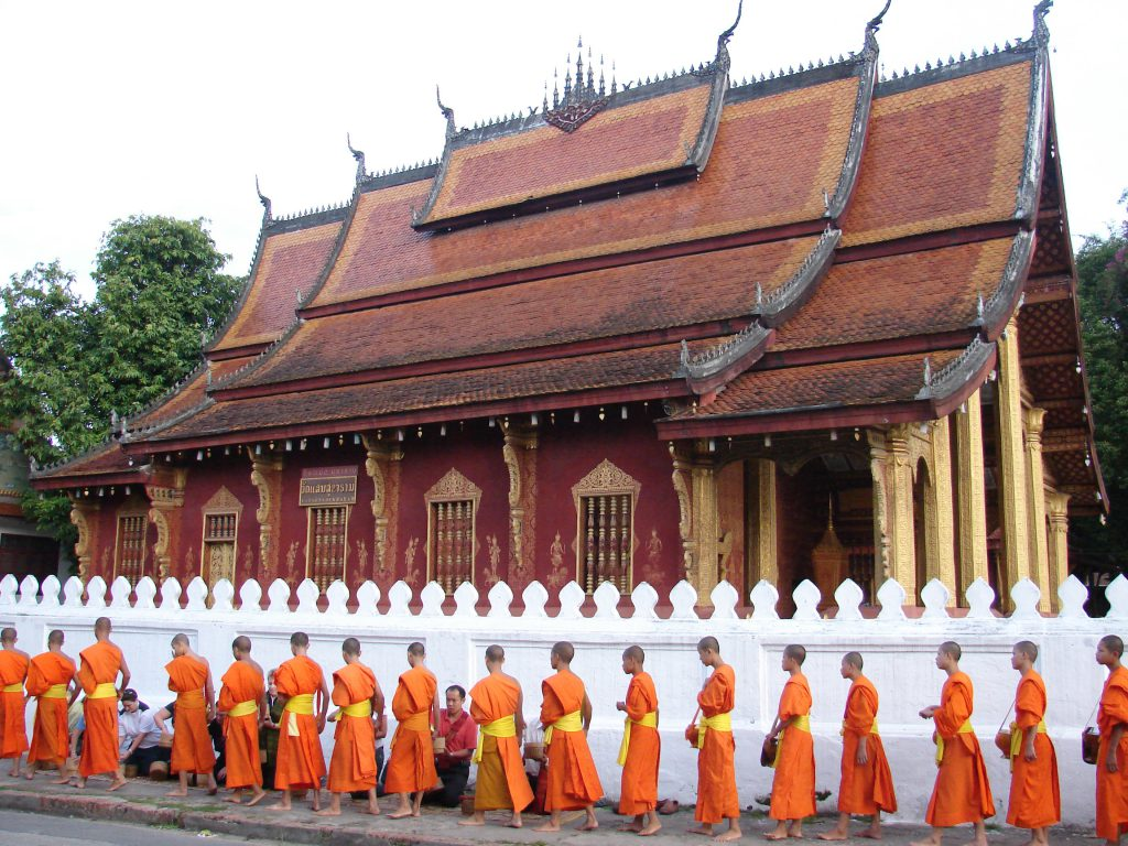 Giving Alms, Laos, multi-country tours