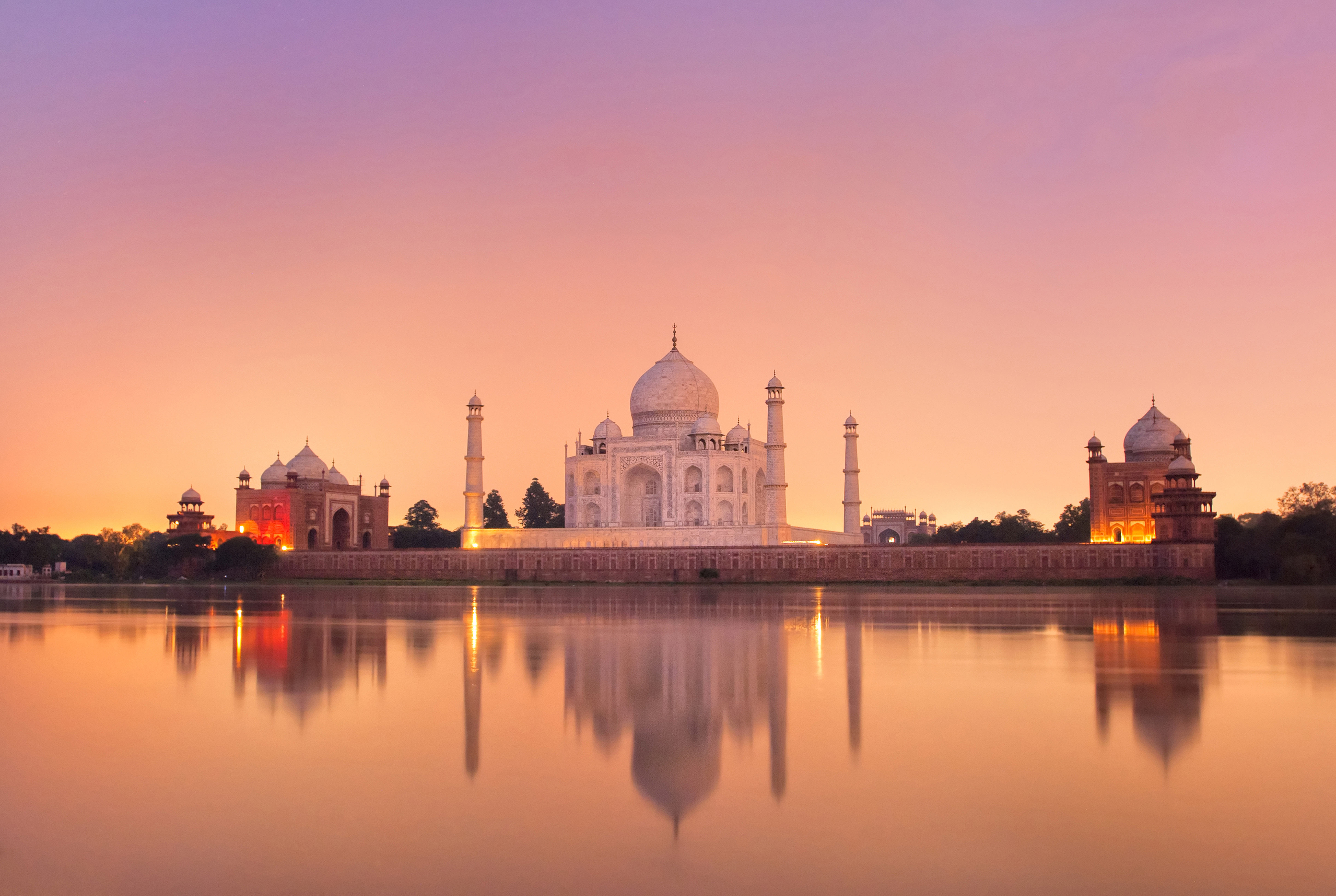 Taj Mahal at sunset, Agra, Valentine's Day