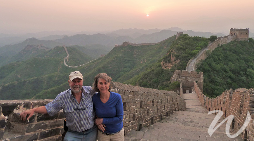 Customers on the Great Wall, Beijing, travel buddy
