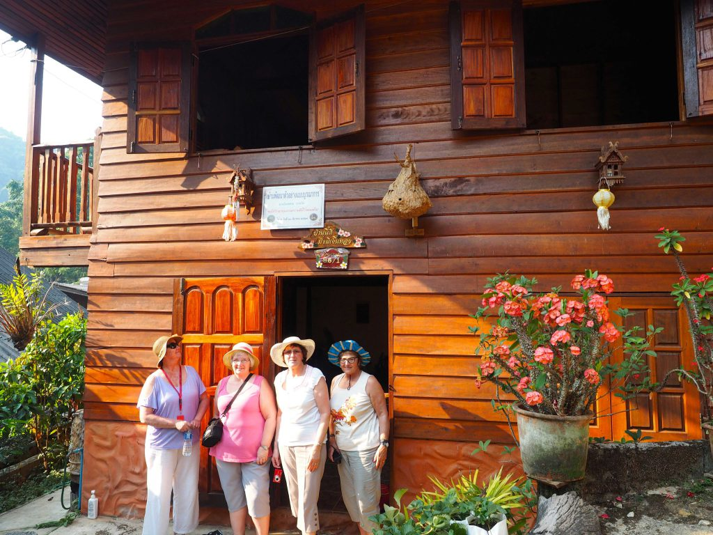 Customers at a home-stay in Mae Kampong, Thailand, travel buddy