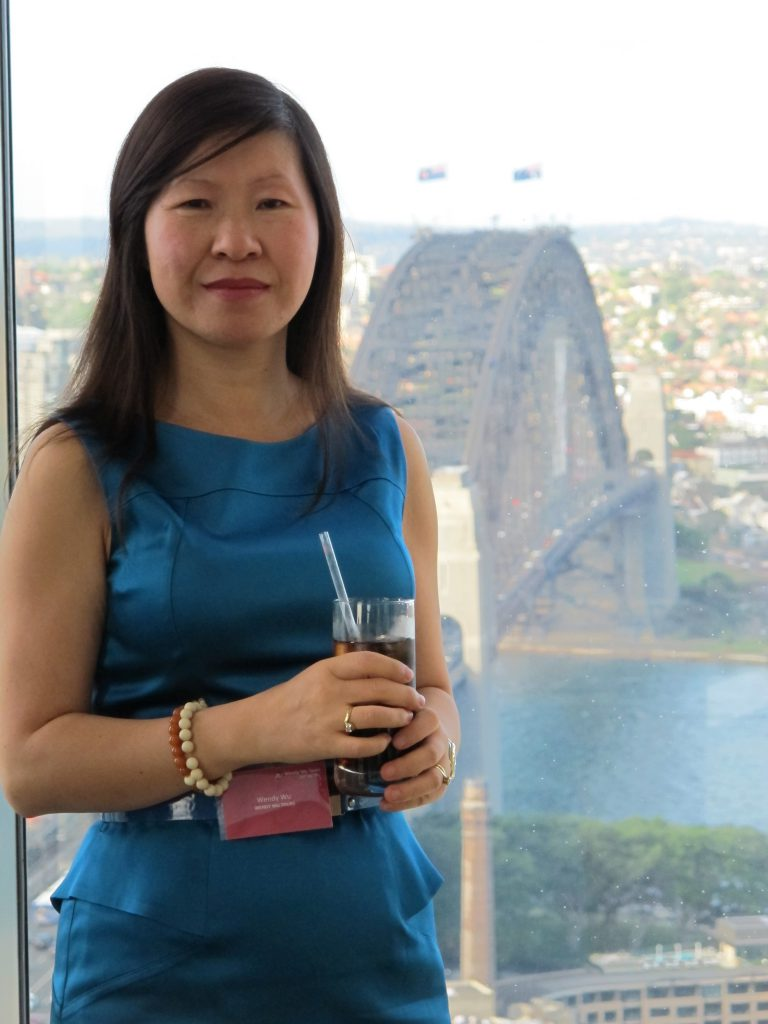 Wendy Wu at a function in Sydney