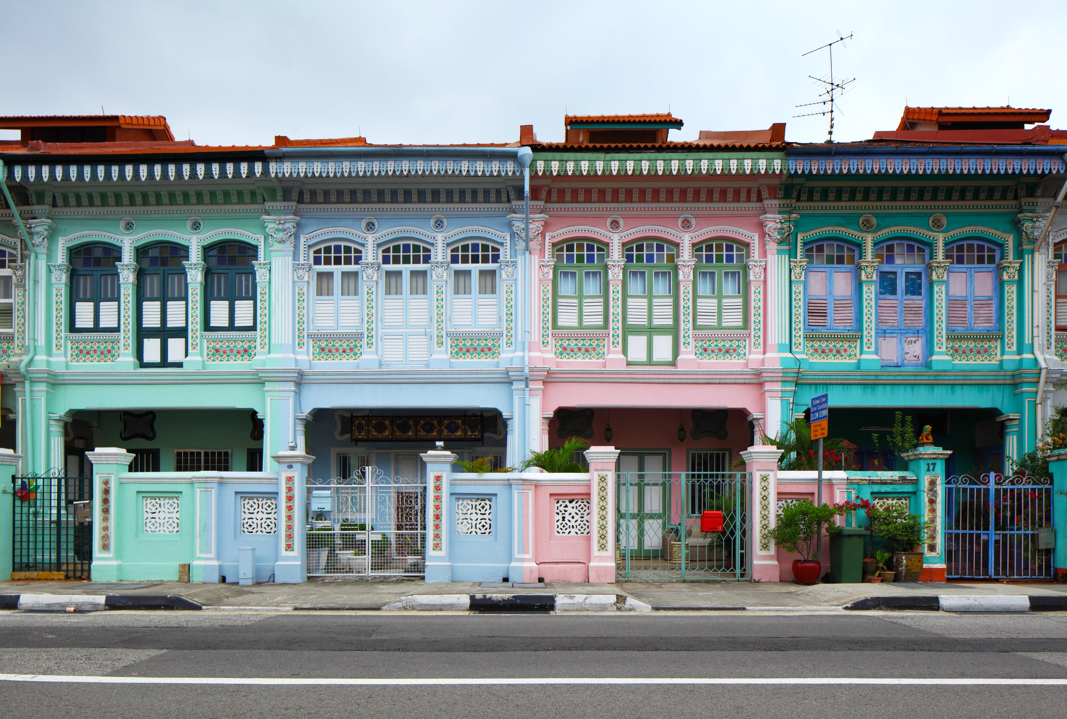 Singapore City Shop Housefronts
