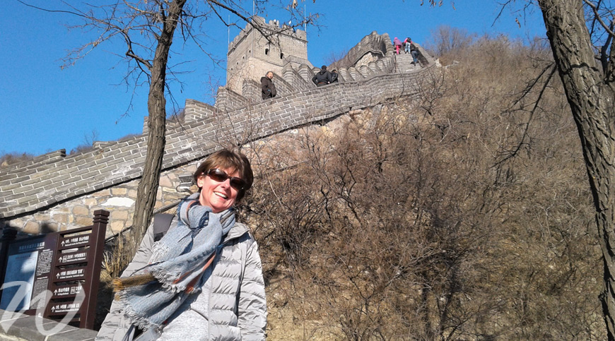 Alison on the Great Wall, Beijing, taste of china