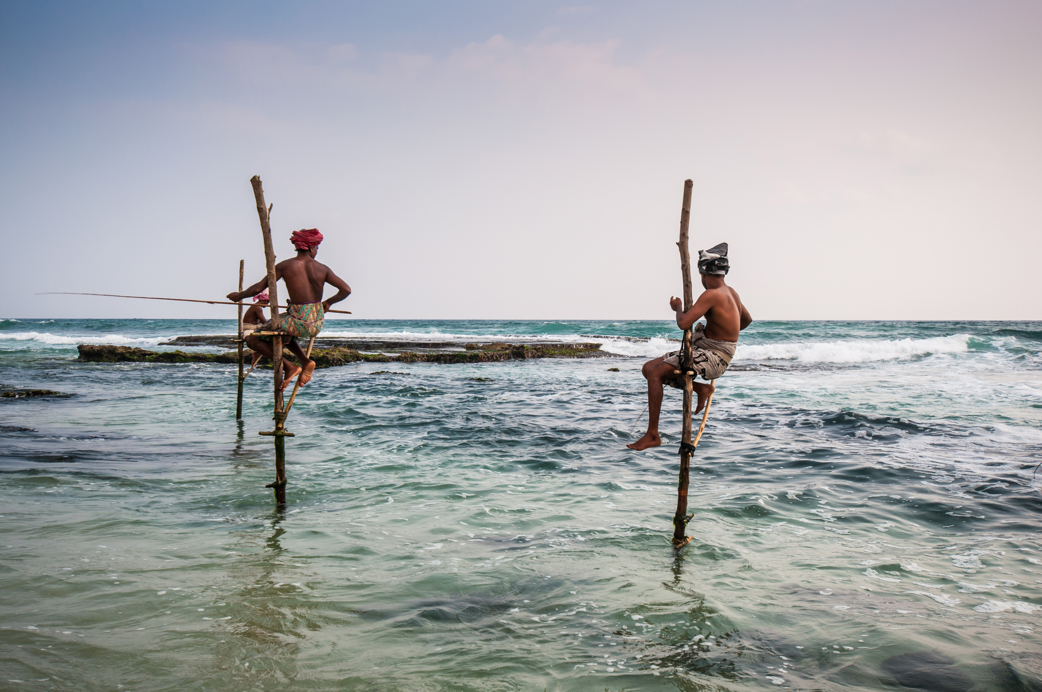 Local Stilt Fishermen, discover sri lanka