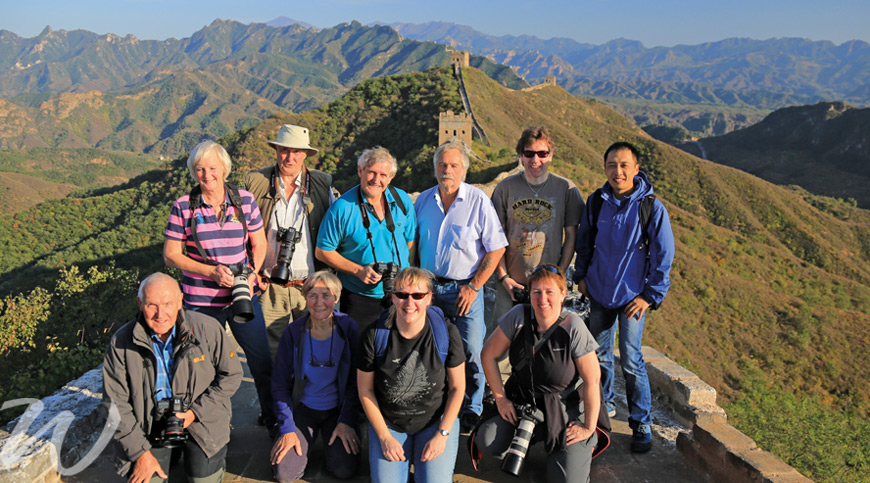 Group on the Great Wall, escorted group tours
