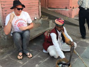 Aaron getting too friendly with the locals, golden triangle india