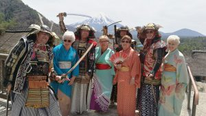 Dress Up Time in the Foothills of Mt. Fuji, traditional japan