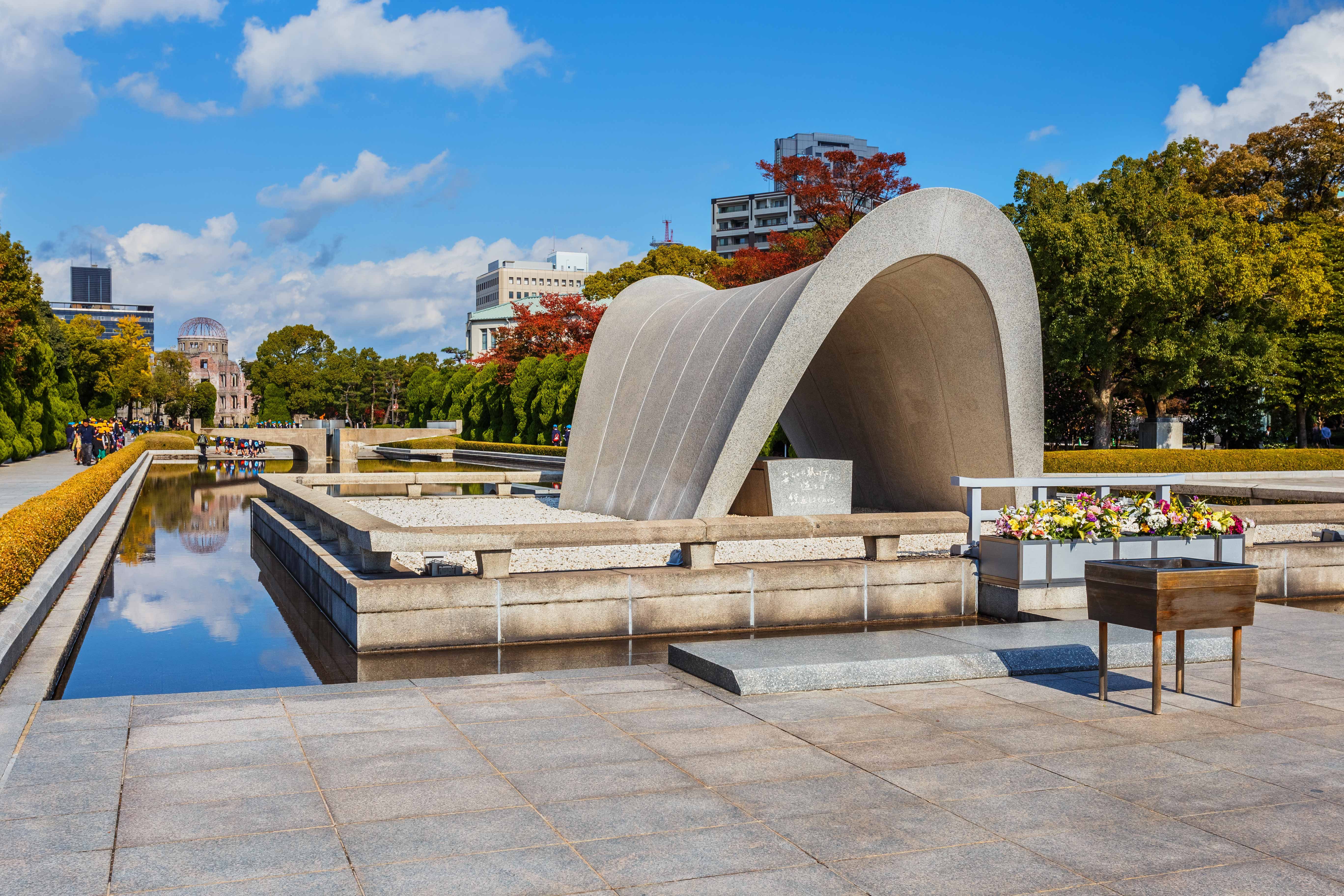 Hiroshima Peace Park, traditional japan