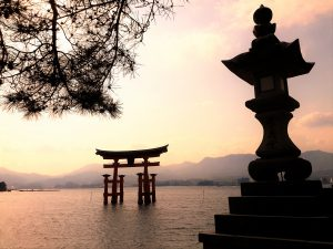 Itsukushima Shrine, traditional japan