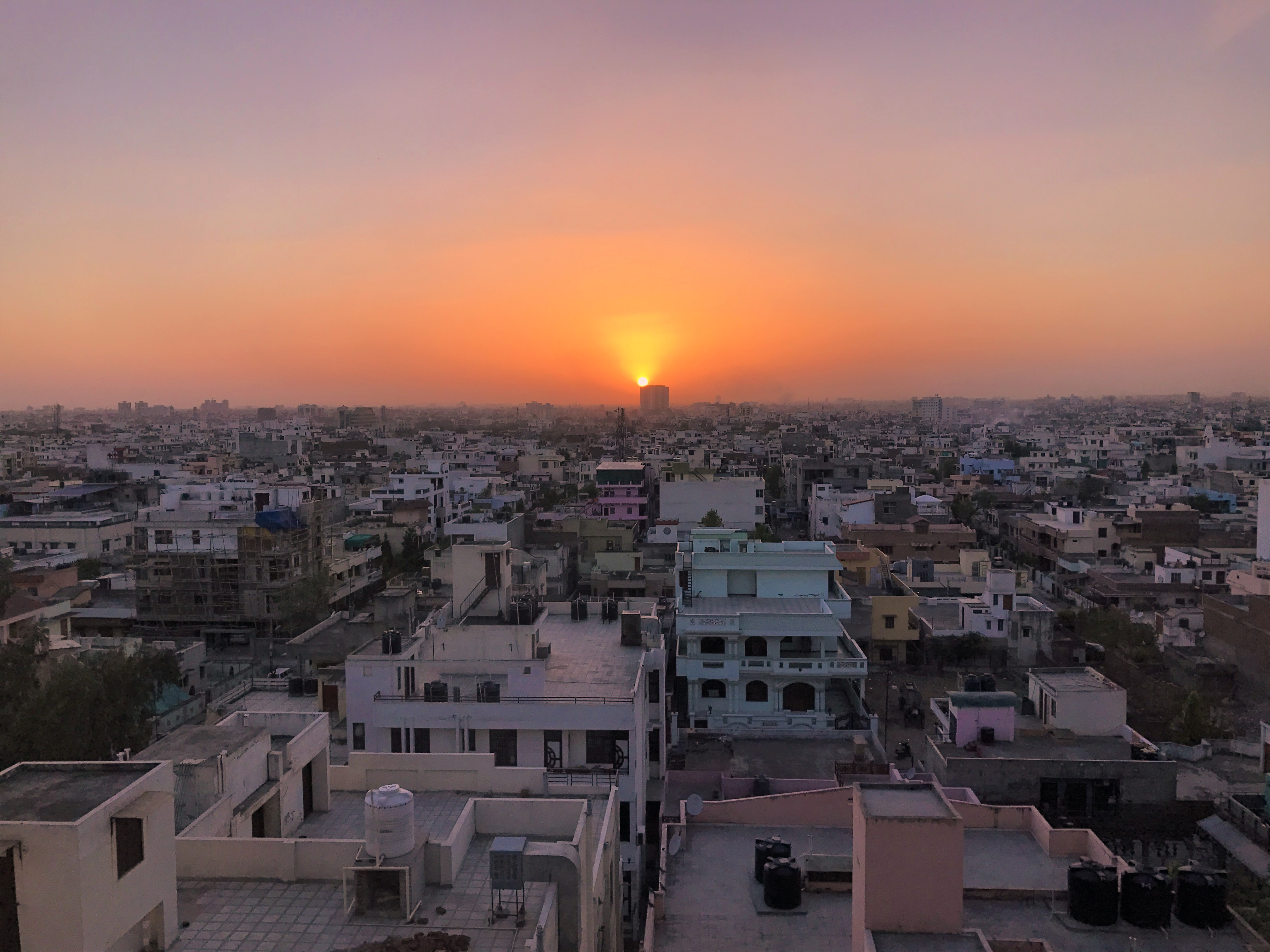 Sunset over Jaipur, golden triangle india