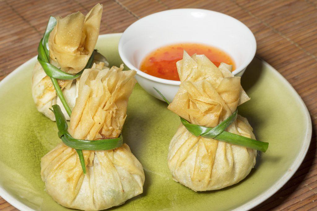 Thai Money Bags, dumplings of asia