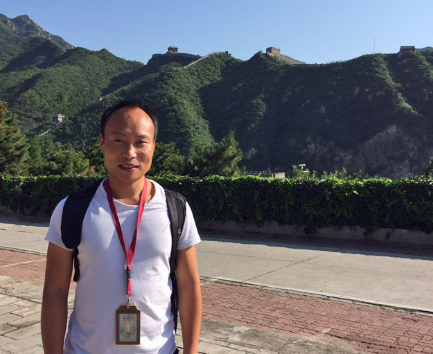 George Pu at the Great Wall, China