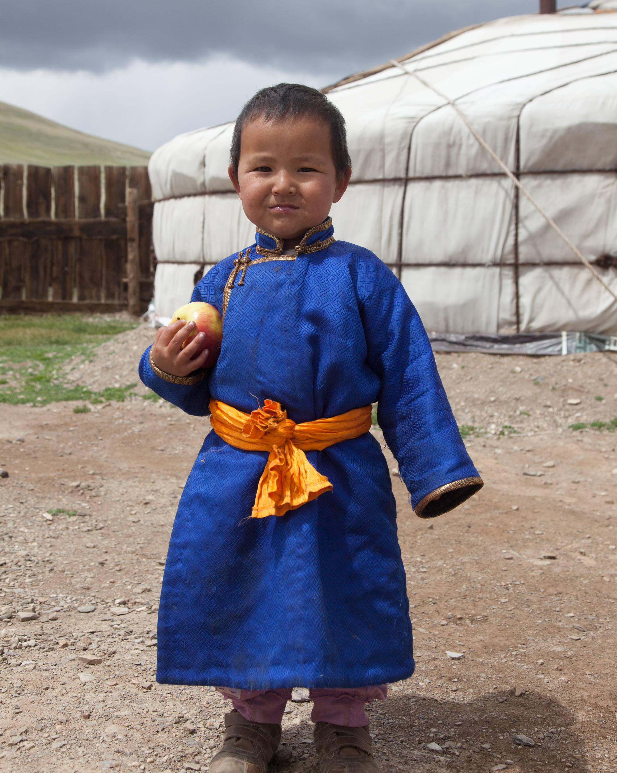 Local Mongolian boy, visit mongolia