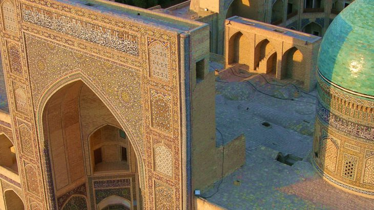 View from the minaret, central asia