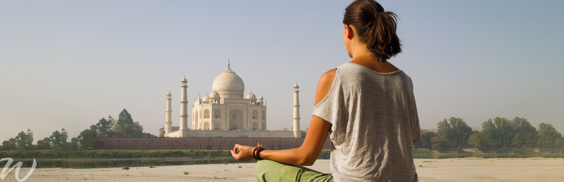 Meditation at Taj Mahal, wellness tourism