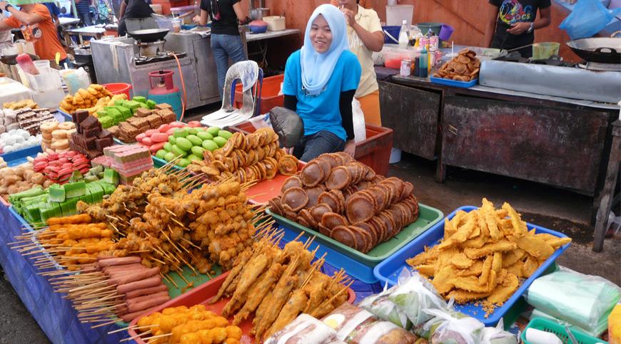 Market Food Stalls, borneo