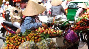 Vietnam Market Stall. taste