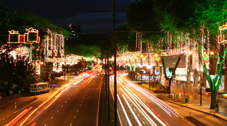 Christmas Light in Singapore, asia winter