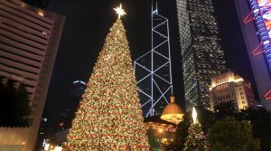 Christmas Tree, Hong Kong, asia winter