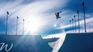 Gliding-soaring-through-the-halfpipe, winter olympics