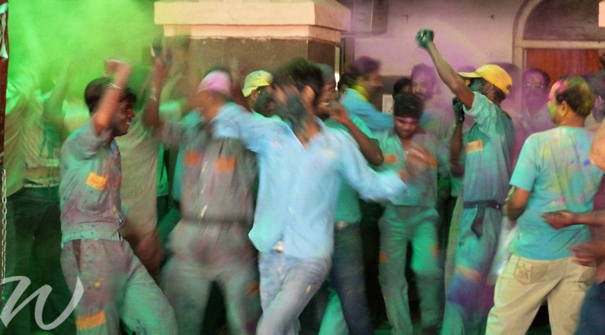 A blur of colour and celebration in Agra, holi festival