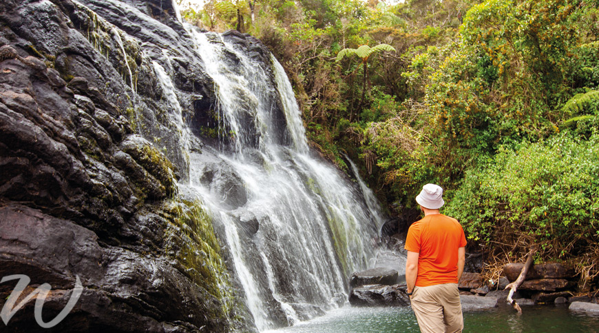 Waterfall in Horton Plains National Park, tour Sri Lanka