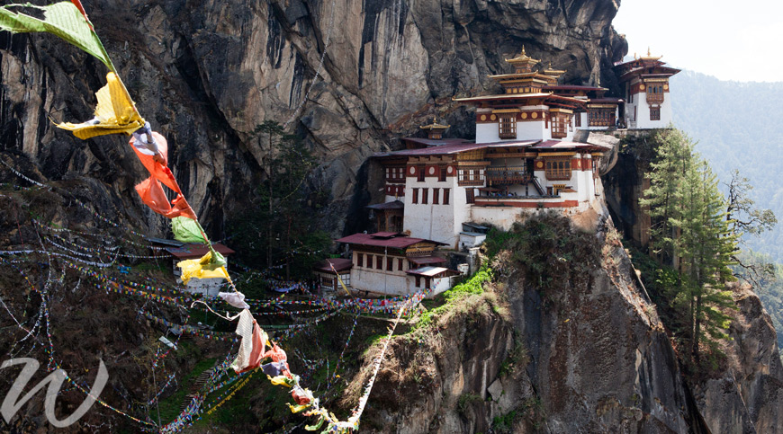 Taktshang Monastery, Bhutan, flying safe