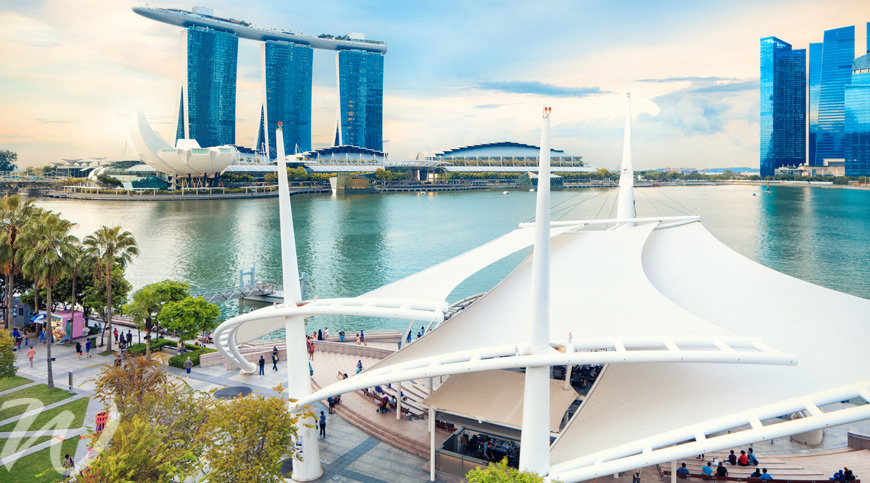 The Esplanade Rooftop Garden View, travel to Singapore