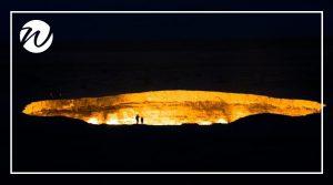 Blazing Darvaza Crater, Turkmenistan