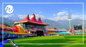 Amazing backdrop of HPCA Stadium, Dharamsala, Asia bucket list