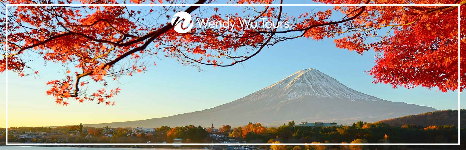Mt Fuji, surrounded by Japan autumn leaves