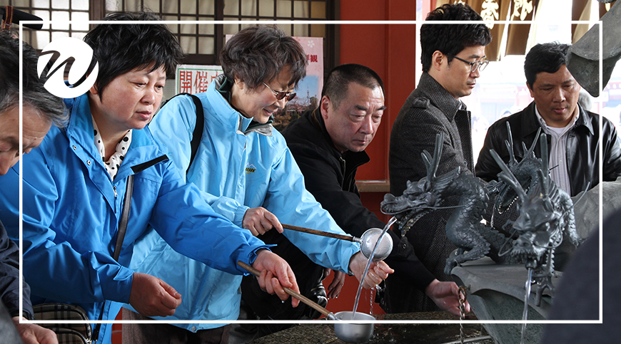 Cleansing hands at Senso-ji Temple