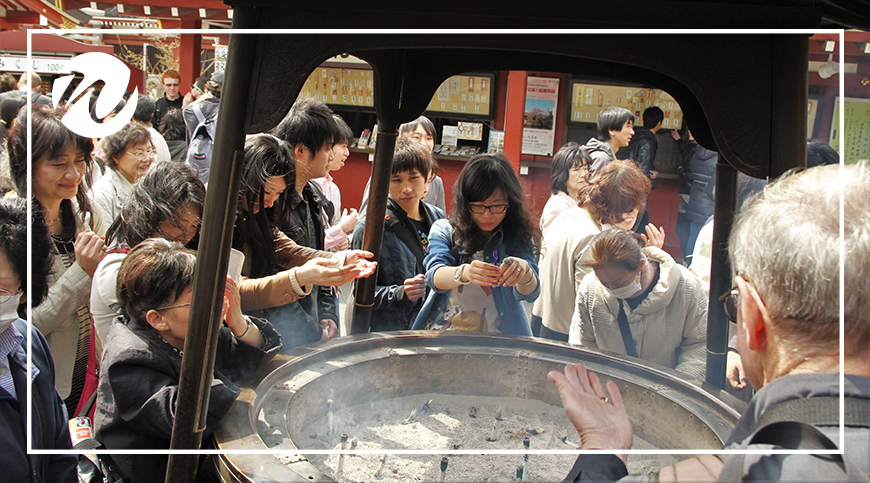 Cleansing at entrance of Senso-ji Temple