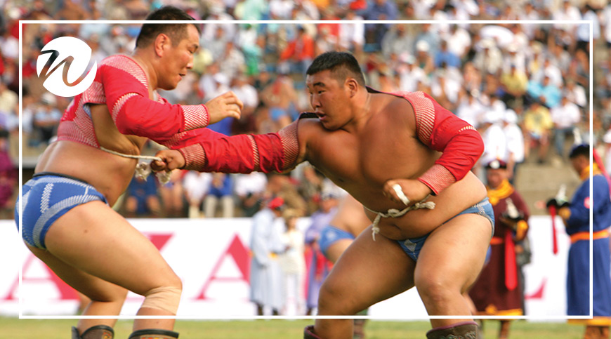 Wrestling, one of the three manly games